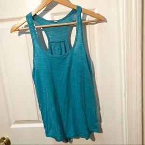 Lululemon blue tie back tank top